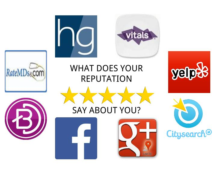 REPUATION IMAGE 1 - Are You Happy with Your Practice's Reputation Management? - websites, specialties, social-media, patients, business, advertising